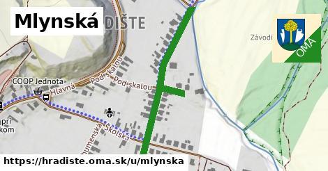 ilustrácia k Mlynská, Hradište - 439m