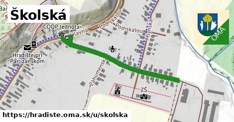 ilustrácia k Školská, Hradište - 436m