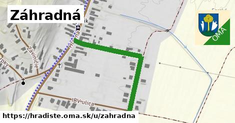 ilustračný obrázok k Záhradná, Hradište