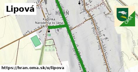 ilustrácia k Lipová, Hraň - 1,10km
