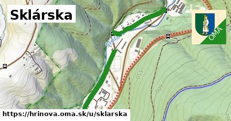 ilustrácia k Sklárska, Hriňová - 1,00km