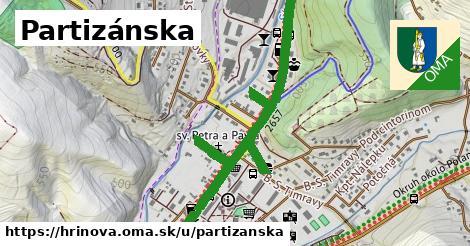 ilustrácia k Partizánska, Hriňová - 1,83km
