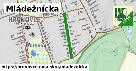 ilustrácia k Mládežnícka, Hronovce - 259m