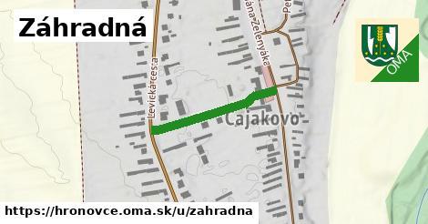 ilustrácia k Záhradná, Hronovce - 230m