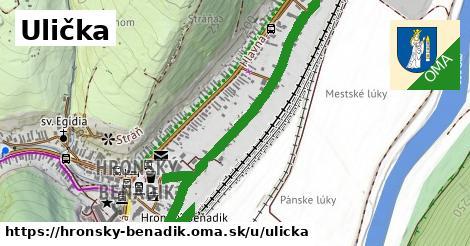 ilustrácia k Ulička, Hronský Beňadik - 1,11km
