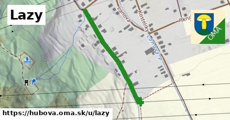 ilustrácia k Lazy, Hubová - 335m
