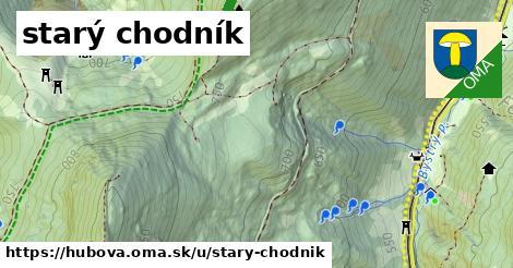 ilustrácia k starý chodník, Hubová - 374m