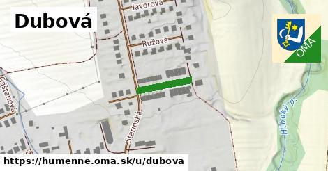 ilustrácia k Dubová, Humenné - 124m