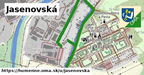 ilustrácia k Jasenovská, Humenné - 2,5km