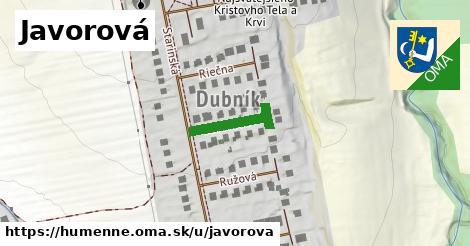 ilustrácia k Javorová, Humenné - 124m