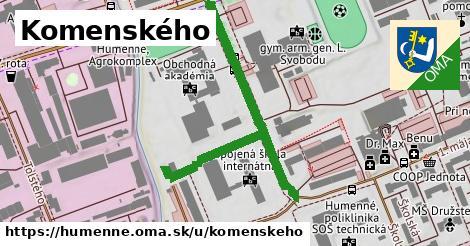 ilustračný obrázok k Komenského, Humenné