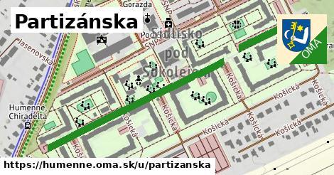 ilustrácia k Partizánska, Humenné - 550m