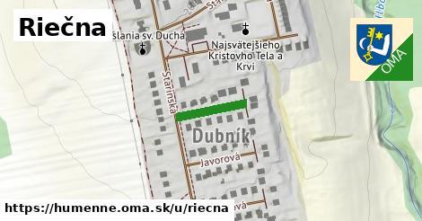 ilustrácia k Riečna, Humenné - 124m