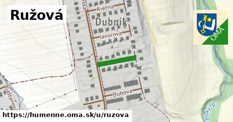 ilustrácia k Ružová, Humenné - 125m