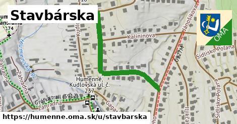 ilustrácia k Stavbárska, Humenné - 390m