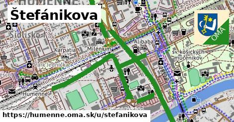 ilustrácia k Štefánikova, Humenné - 2,3km