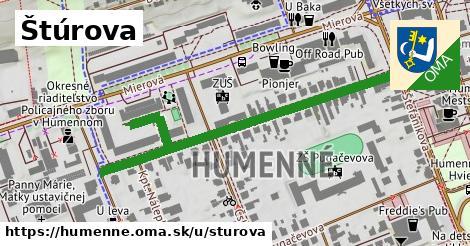 ilustrácia k Štúrova, Humenné - 600m