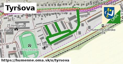 ilustrácia k Tyršova, Humenné - 0,73km