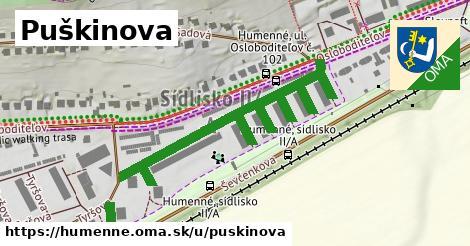 ilustrácia k Puškinova, Humenné - 697m