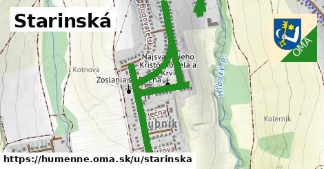 ilustrácia k Starinská, Humenné - 2,2km