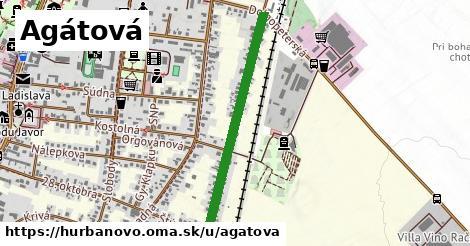 ilustračný obrázok k Agátová, Hurbanovo