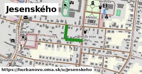 ilustrácia k Jesenského, Hurbanovo - 169m