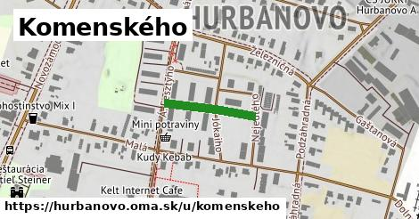 ilustrácia k Komenského, Hurbanovo - 164m