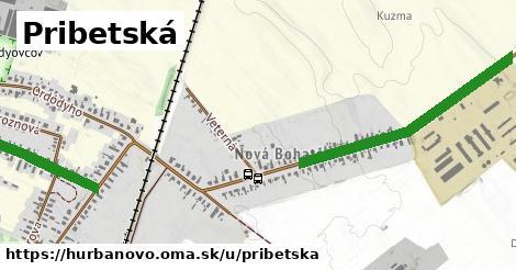 ilustrácia k Pribetská, Hurbanovo - 1,16km
