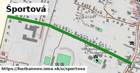 ilustrácia k Športová, Hurbanovo - 0,72km