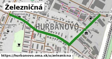 ilustrácia k Železničná, Hurbanovo - 0,76km