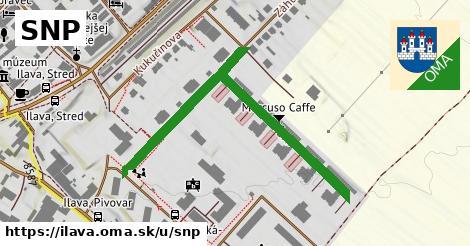 ilustrácia k SNP, Ilava - 555m