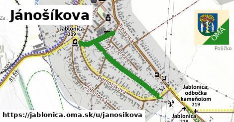 ilustrácia k Jánošíkova, Jablonica - 445m