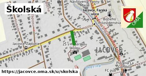 Školská, Jacovce