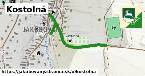 ilustrácia k Kostolná, Jakubovany, okres SB - 398m