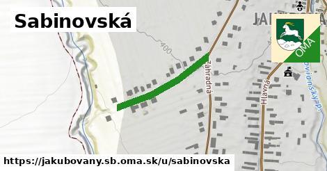 ilustrácia k Sabinovská, Jakubovany, okres SB - 219m