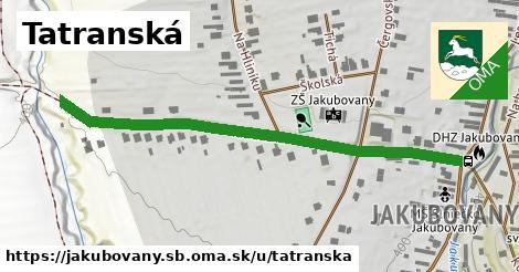 ilustračný obrázok k Tatranská, Jakubovany, okres SB