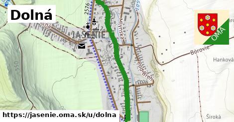 ilustrácia k Dolná, Jasenie - 0,91km
