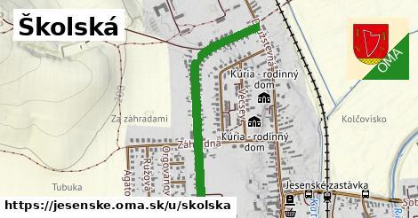 ilustrácia k Školská, Jesenské - 0,88km