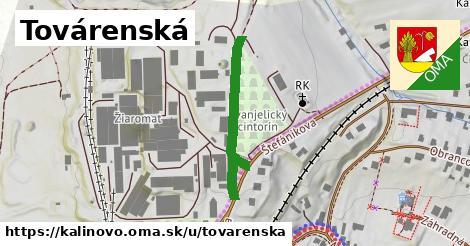 ilustrácia k Továrenská, Kalinovo - 286m
