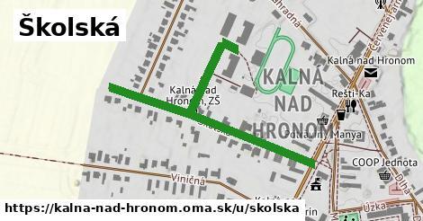 Školská, Kalná nad Hronom