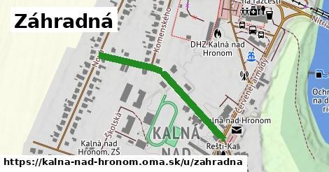 ilustrácia k Záhradná, Kalná nad Hronom - 357m