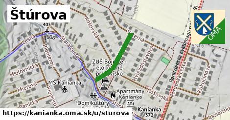ilustrácia k Štúrova, Kanianka - 195m