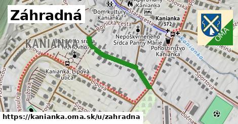 ilustrácia k Záhradná, Kanianka - 267m