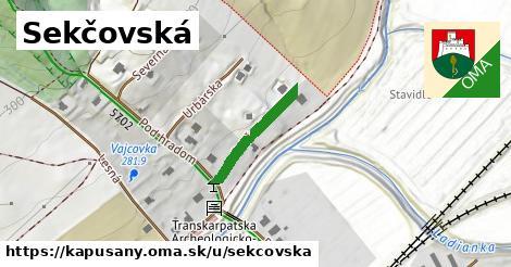ilustrácia k Sekčovská, Kapušany - 183m