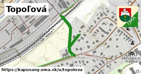 ilustrácia k Topoľová, Kapušany - 244m