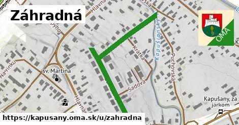 ilustračný obrázok k Záhradná, Kapušany