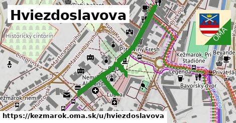ilustrácia k Hviezdoslavova, Kežmarok - 509m