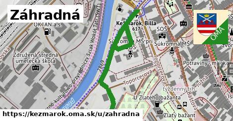 ilustrácia k Záhradná, Kežmarok - 563m