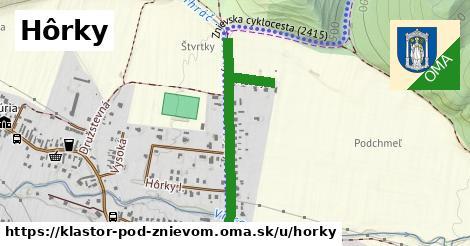 ilustrácia k Hôrky, Kláštor pod Znievom - 505m