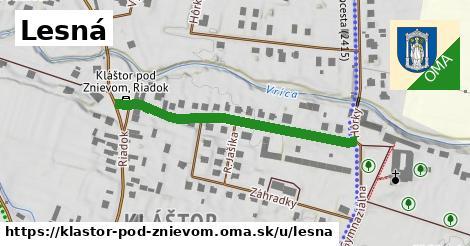 ilustrácia k Lesná, Kláštor pod Znievom - 386m
